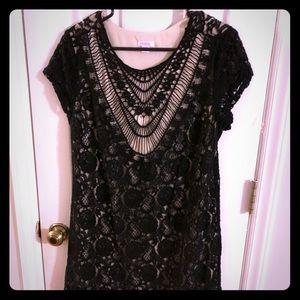 Lace Little Black Dress. Size XL
